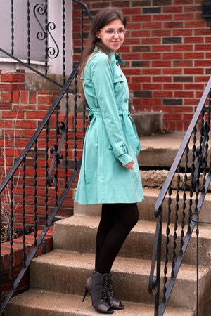 aquamarine trench LC Lauren Conrad coat