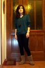 Camel-bearpaw-boots-black-miss-selfridge-jeans-black-pimkie-necklace