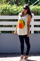 orange big orange unknown top - black Mango leggings