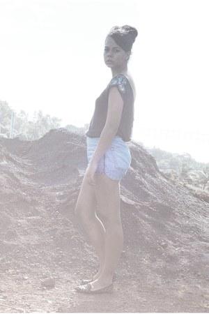 blue Topshop shorts