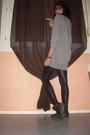 Gray-h-m-sweater-black-american-apparel-leggings-black-nike-shoes