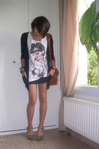 Zara vest - Zara t-shirt - H&M skirt - Agns B shoes