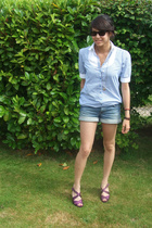 H&M shirt - H&M shorts - H&M shoes - Ray Ban sunglasses