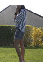 Blue-zara-shorts-white-zara-t-shirt-h-m-shoes