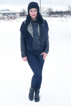 Pull and Bear jacket - Choies boots - hm pants