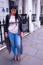Periwinkle-h-m-jeans-black-jordan-hat-black-tally-weijl-jacket