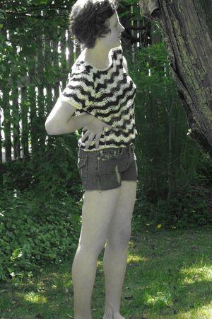vintage shirt - True Religion shorts