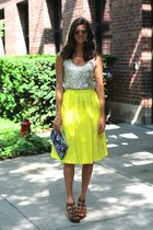 yellow Nordstrom skirt