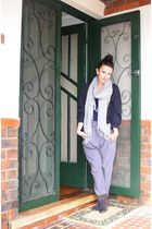 black Gorman jacket - gray pants - brown Pied A Terre boots - silver Country Roa