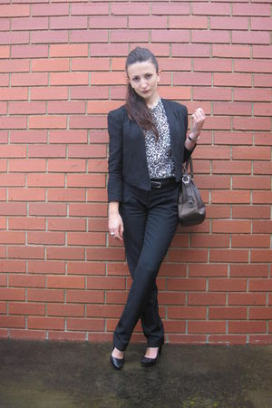 secret squirrel blouse - Country Road pants - Prada purse