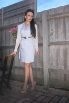 Oxford dress - Witchery cardigan - Cue belt - Sempri Di shoes