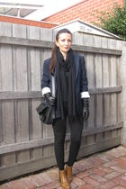 Theory blazer - black sass & bide leggings - orange Panama boots - black Country