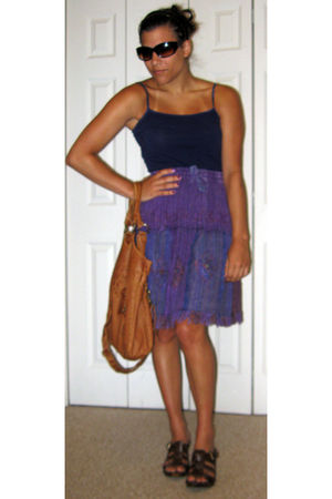 purple Forever 21 top - purple Shop Therapy skirt - brown Sonoma Life & Style sh