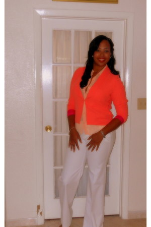 Forever 21 blazer - Forever 21 blouse - white Gap pants