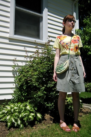 some Japanese store shirt - Urban Outfitters skirt - Saltwater Sandals shoes