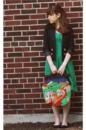 H&M blazer - H&M dress - H&M shoes - Secondhand purse