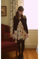 H&M coat - h&m via thrift town sweater - asos dress - gift stockings - H&M shoes