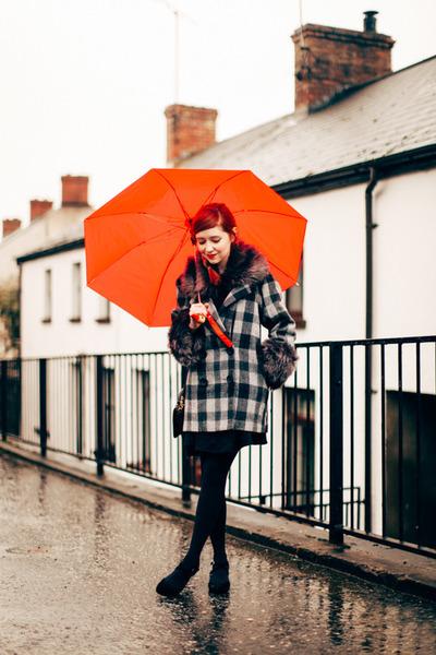 Chicwish coat - Trendy Legs tights - umbrellared modcloth accessories