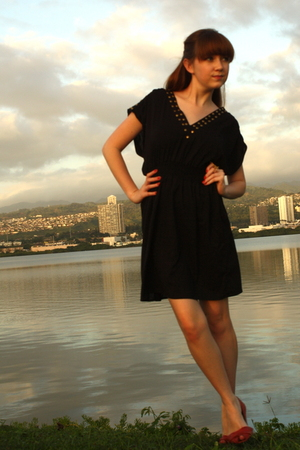 black Mink Pink dress - red Blowfish shoes