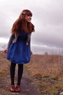 Gray-gap-cardigan-blue-bb-dakota-dress-black-walmart-tights-brown-seychell