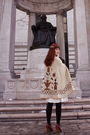 Beige-vintage-cape-coat-white-vintage-dress-black-h-m-tights-brown-seychel