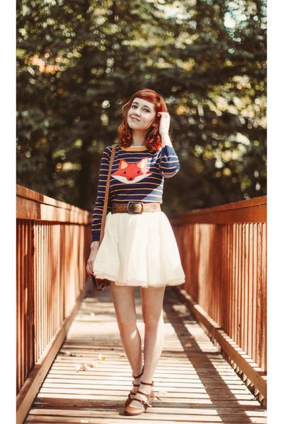 Avenle sweater - Shop Ruche dress - vintage belt - Shop Ruche flats