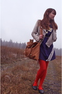 Blue-modcloth-dress-red-modcloth-tights-blue-secondhand-shoes-yellow-modcl