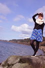 White-yarnovermovement-scarf-black-uo-jacket-blue-modcloth-dress-black-h-m
