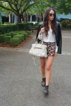 black Lucette jacket - black portmans boots - off white Prada bag