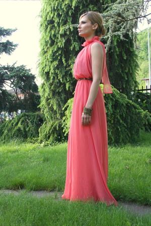 coral OASAP dress