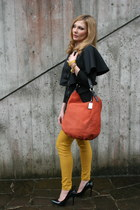 black Eyeboxs dress - tawny Tosca Blu bag - mustard tezenis pants