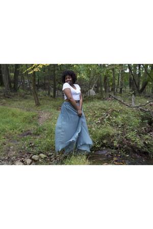 maxi skirt asos skirt - crop top American Apparel top