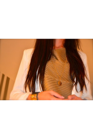 Fendi necklace - Mango jacket - Hermes bracelet - Devotion top