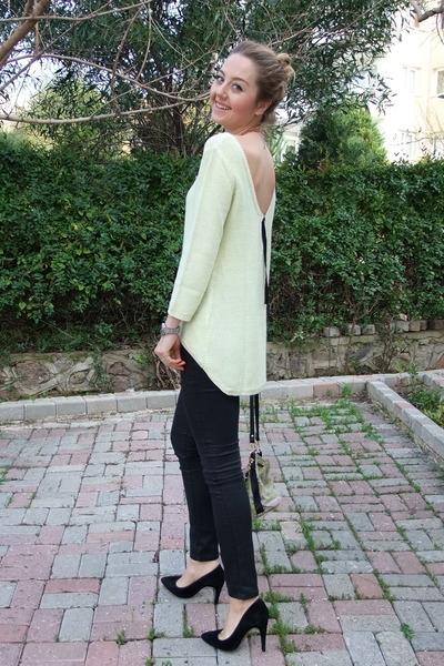 Zara sweater - H&M jeans - Mango heels
