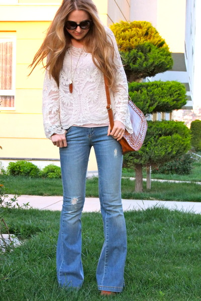 Chic Blue Jeans Blue Flared Twist Jeans