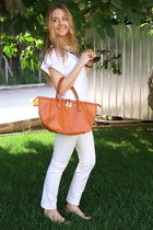 white denim Journey pants - orange Mudo bag - bronze Dolce&Gabbana sunglasses
