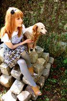 H&M skirt - vintage shoes - Zara t-shirt