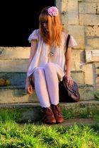 H&M tights - new look shoes - Naf Naf t-shirt