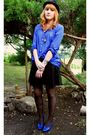 Blue-vintage-shoes-blue-zara-shirt-blue-vintage-accessories