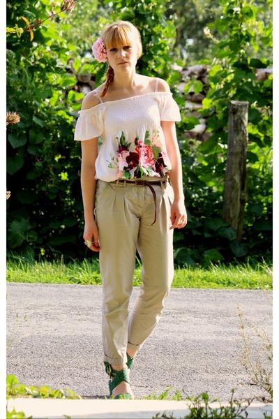 H&M garden collection dress - Pimkie pants - vintage shoes