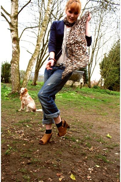 vintage shoes - Zara jeans - H&M socks