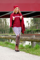 Shoes boots - 100  french Leleon sweater - stripes Front Row Shop skirt