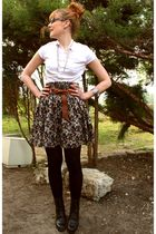 vintage shoes - H&M skirt - H&M shirt