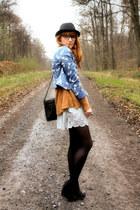 H&M jacket - vintage sweater - vintage bag - H&M shorts