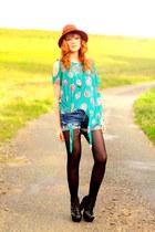 romwe shoes - Zara hat - Levis shorts