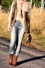 Zara-boots-pimkie-jeans-zara-scarf-zara-cardigan
