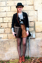 H&M tights - H&M sweater - new look boots - Zara shorts - H&M jacket - vintage b