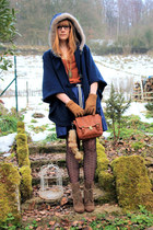 Pimkie coat - Zara boots - Zara skirt - H&amp;M top