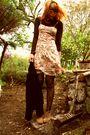 Floral-dress-naf-naf-jacket