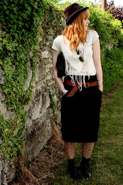 vintage accessories - Naf Naf skirt - vintage hat